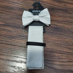 NWT Alfani mens bow tie and pocket square